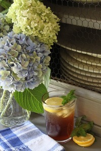 Sweet tea and hydrangeas