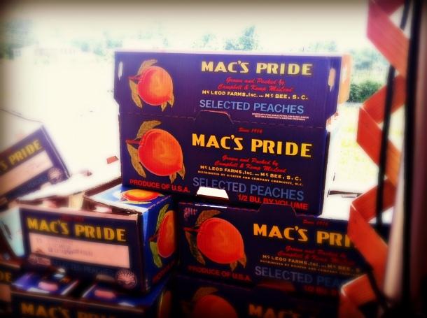 peach crates