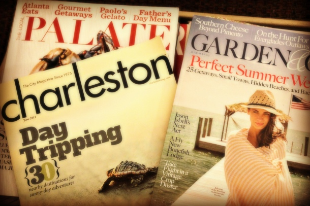 Garden & Gun, Charleston Magazine, Local Palete