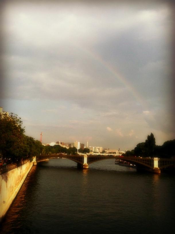 Parisian rainbow (Photo by Amy Watson Smith, July 2013)