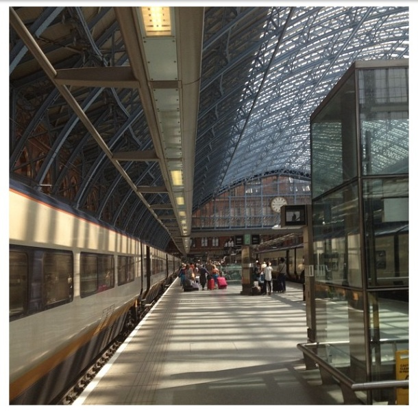 St. Pancras Station, London (Photo by Michael K. Smith, July 2013)